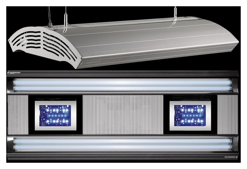 giesemann aurora hybrid t5 led 1500mm polarweiß inkl röhren